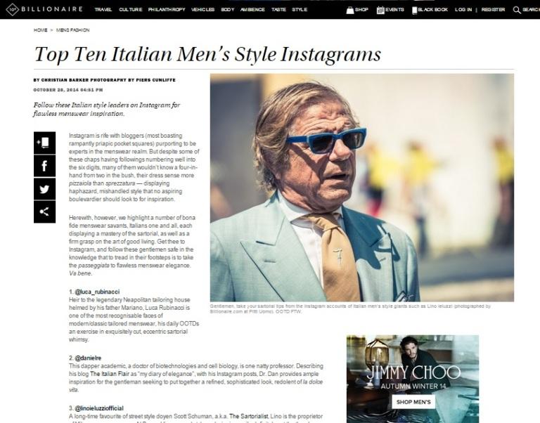 Articolo Billionaire.com